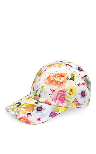 Medium msgm print floral stamped baseball cap