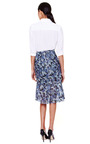 Flower Print And Hand Punched Knee Length Skirt by PATRíCIA VIERA Now Available on Moda Operandi
