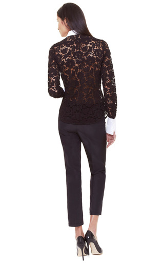 Two Tone Lace Blouse by VALENTINO Now Available on Moda Operandi
