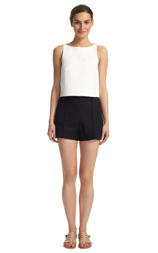 Ponte Combo Cropped Top by TIBI Now Available on Moda Operandi