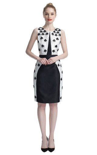 Sunburst Embroidered Cocktail Dress by PRABAL GURUNG Now Available on Moda Operandi