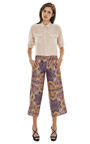 Paisley Shantung Cropped Pant by CARVEN Now Available on Moda Operandi