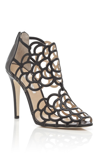 Black Gladia Bootie by OSCAR DE LA RENTA Now Available on Moda Operandi