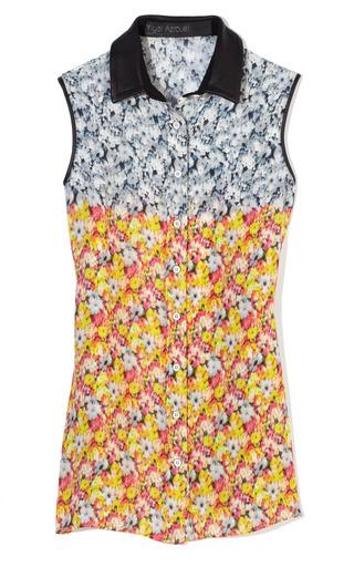 Medium yigal azrouel print floral ikat georgette blouse 2