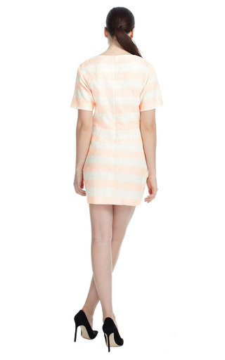 Pink Striped Shift Dress by THAKOON Now Available on Moda Operandi