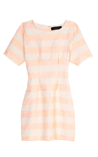 Medium thakoon multi pink striped shift dress
