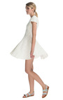 Ivory Jules Lace Cap Sleeve Dress by TIBI Now Available on Moda Operandi