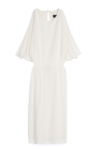 Side Draped Dress by THAKOON Now Available on Moda Operandi