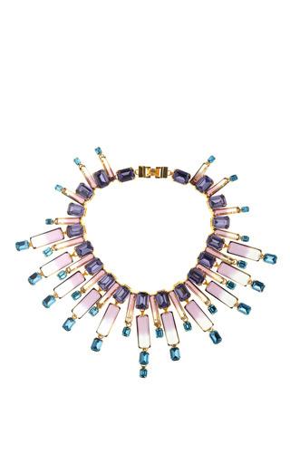 Medium house of lavande multi oceana crystal collar necklace 2
