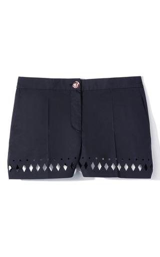 Medium versace black eyelet shorts