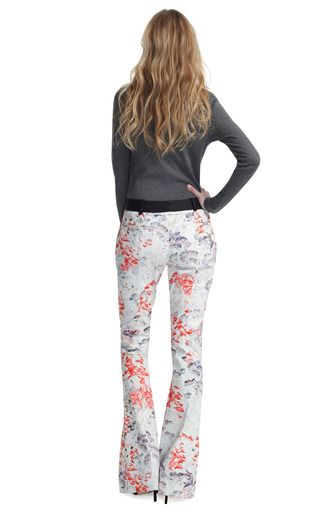 Floral Flared Molded Seam Trousers by PRABAL GURUNG Now Available on Moda Operandi