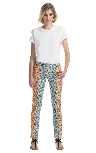 Floral Ikat Ottoman Pant by YIGAL AZROUëL Now Available on Moda Operandi