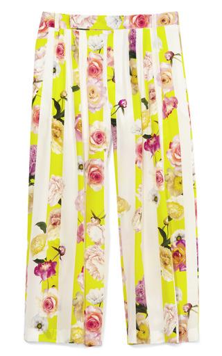 Medium msgm print floral stamped crepe de chine pant