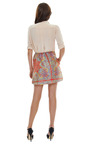 Paisley Shantung Skirt by CARVEN Now Available on Moda Operandi