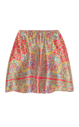 Medium carven multi paisley shantung skirt 2