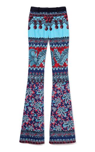 Medium prabal gurung print flared molded seam trousers