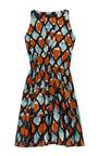 Diagonal Check Printed Poplin Dress by THAKOON Now Available on Moda Operandi