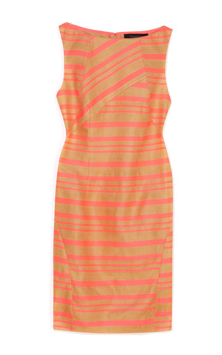 Open Weave Striped Contrast Shift Dress by THAKOON Now Available on Moda Operandi