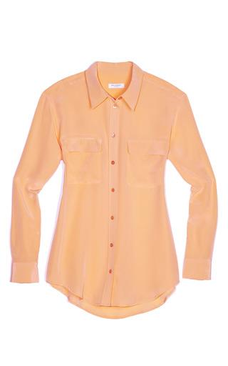 Medium equipment orange signature blouse