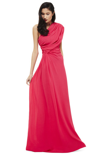 Pink One Shoulder Evening Gown by GIAMBATTISTA VALLI Now Available on Moda Operandi