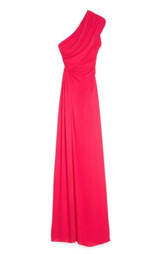 Medium giambattista valli pink pink one shoulder evening gown