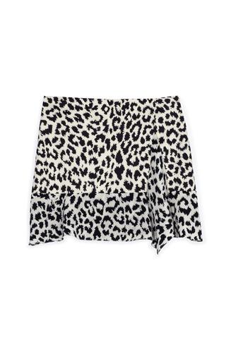 Medium thakoon addition print side drape ruffle skirt