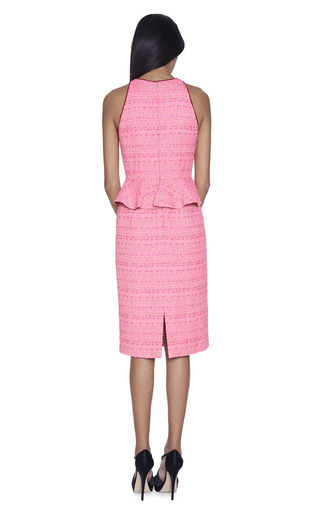 Bright Pink Peplum Dress by GIAMBATTISTA VALLI Now Available on Moda Operandi