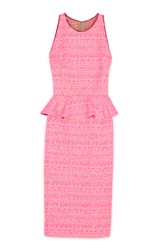 Medium giambattista valli pink bright pink peplum dress