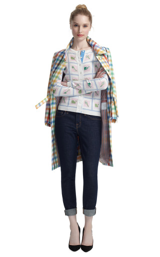 Popper Overcoat by THOM BROWNE Now Available on Moda Operandi