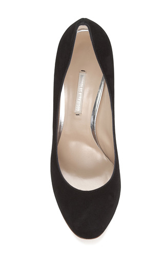 Suede Swirl Pump by NICHOLAS KIRKWOOD Now Available on Moda Operandi