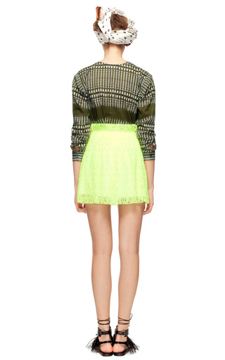 Micro Lace Plissé Skirt by MSGM Now Available on Moda Operandi