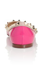 Rockstud Ballerina Flat by VALENTINO Now Available on Moda Operandi