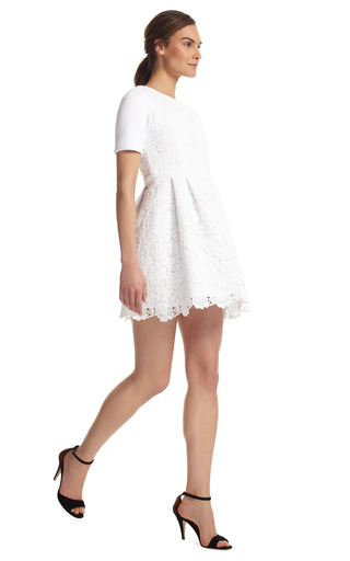 White Sigrid Lace Dress by TIBI Now Available on Moda Operandi