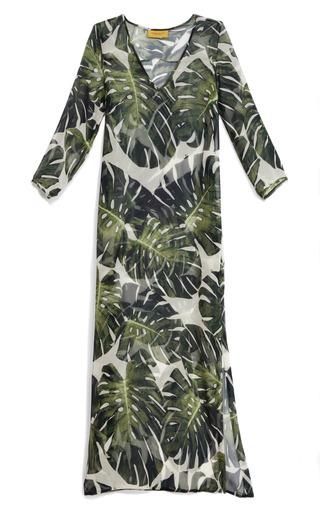 Medium adriana degreas green tropical long tunic