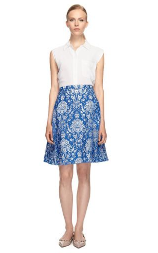 Devore Organza Cotton Skirt by PETER SOM Now Available on Moda Operandi
