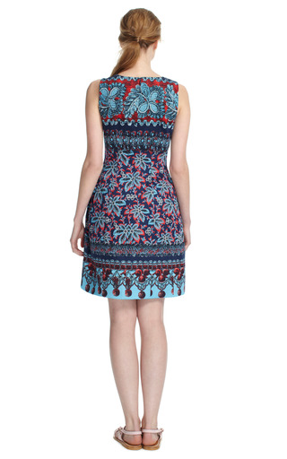 Floral V Neck Cocktail Dress by PRABAL GURUNG Now Available on Moda Operandi