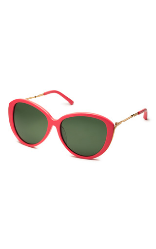 Linda Farrow For Prabal Gurung Coral Sunglasses by LINDA FARROW Now Available on Moda Operandi