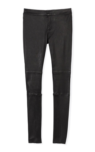 Medium yigal azrouel black stretch leather pant 2