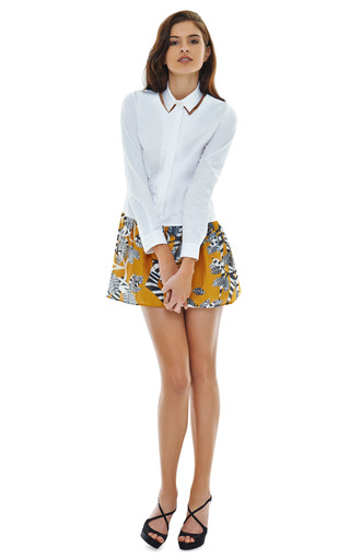 Cut Out Collared Shirt Dress by THAKOON ADDITION Now Available on Moda Operandi