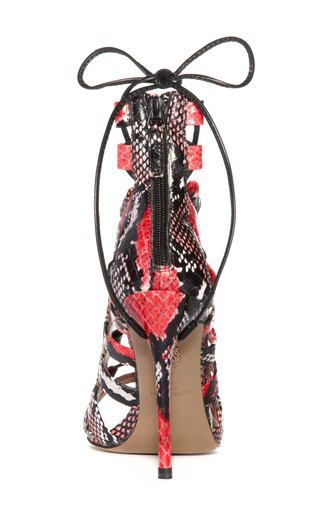 Red Amazon Lace Up Bootie by AQUAZZURA Now Available on Moda Operandi
