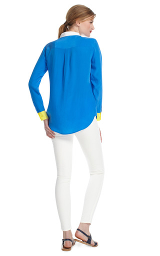 Slim Signature Colorblocked Blouse by EQUIPMENT Now Available on Moda Operandi