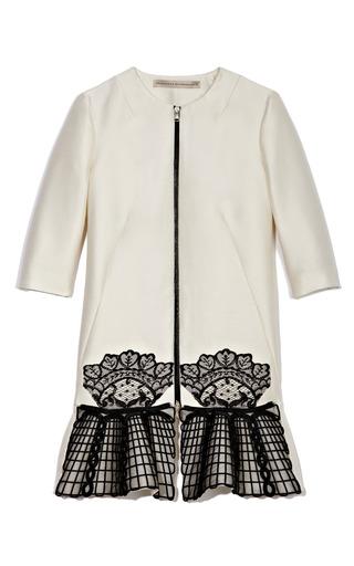 Medium francesco scognamiglio multi lace embroidered car coat