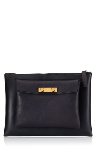 Medium marni black double pochette