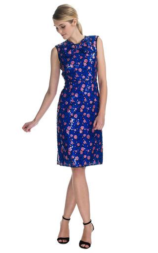Sequin Splash Bow Neck Sheath Dress by MARC JACOBS Now Available on Moda Operandi