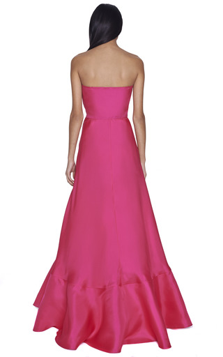 Fuchsia Strapless Gown by VALENTINO Now Available on Moda Operandi