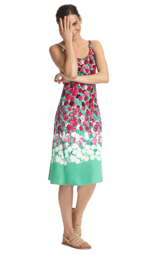 Degrade Floral Long Tank Dress by MARC JACOBS Now Available on Moda Operandi