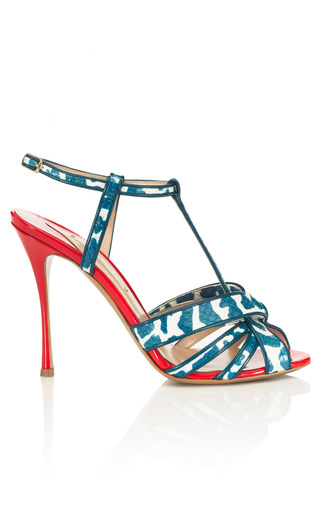 T Strap Sandal by NICHOLAS KIRKWOOD Now Available on Moda Operandi