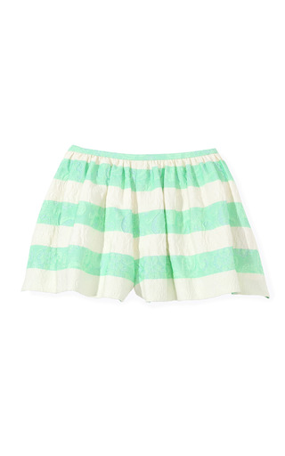 Medium thakoon multi green striped full short