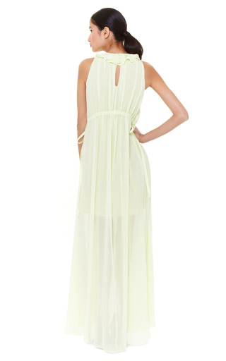 Creponne Drawstring Maxi Dress by CARVEN Now Available on Moda Operandi