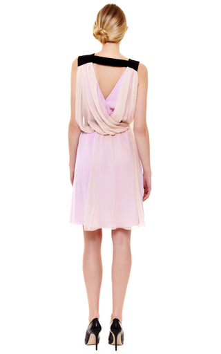 Silk Georgette Cocktail Dress by VIONNET Now Available on Moda Operandi